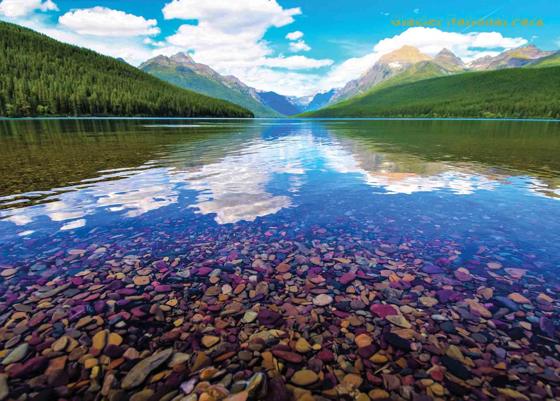 Glacier National Park Bowman Lake, adult jigsaw puzzle