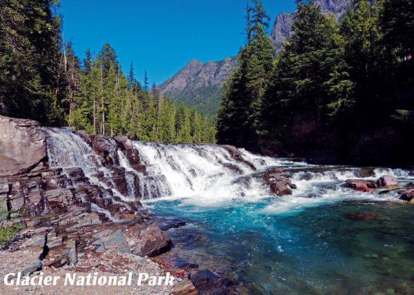 Glacier National Park Sacred Dancing Cascades at Red Rock Point